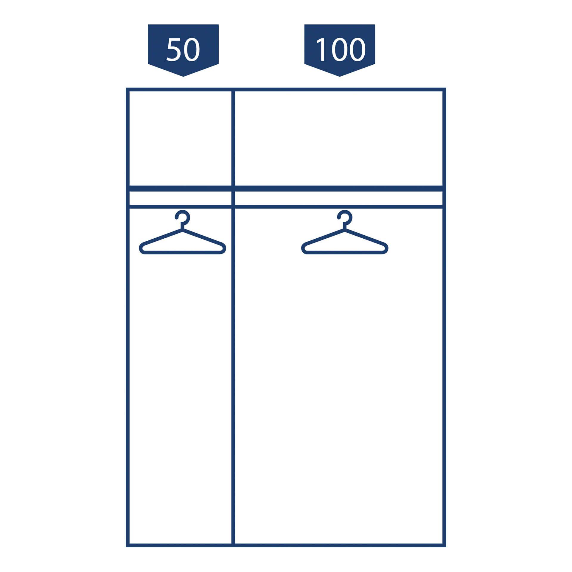 Nolte swift Schuifdeurkast 2 deurs 150 cm Jackson