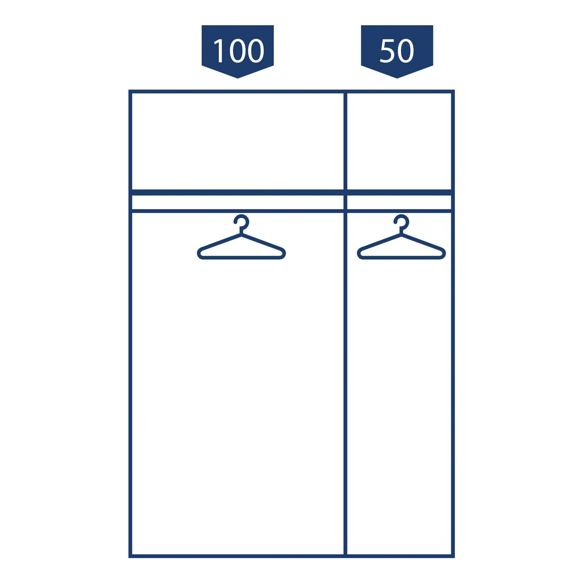 Nolte swift Draaideurkast - 3 deurs Basalt