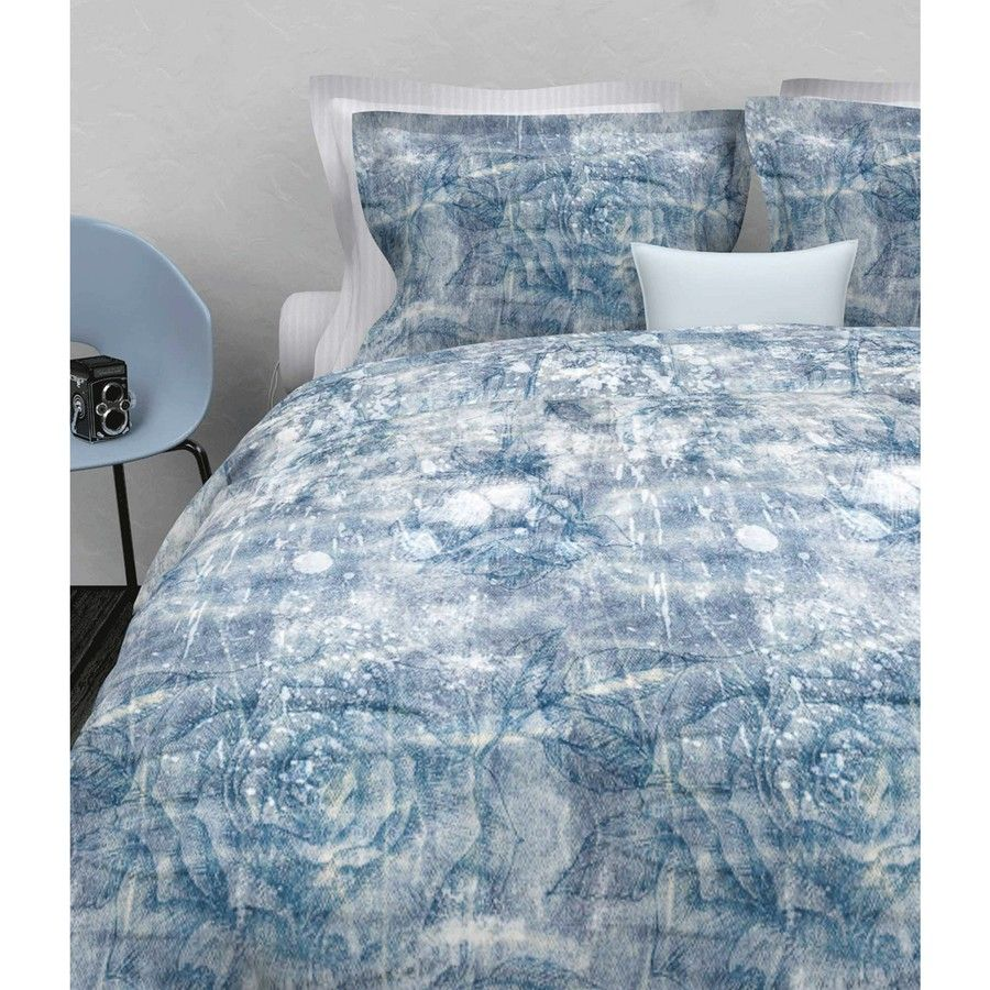Heckettlane - Monica blauw dekbedovertrek