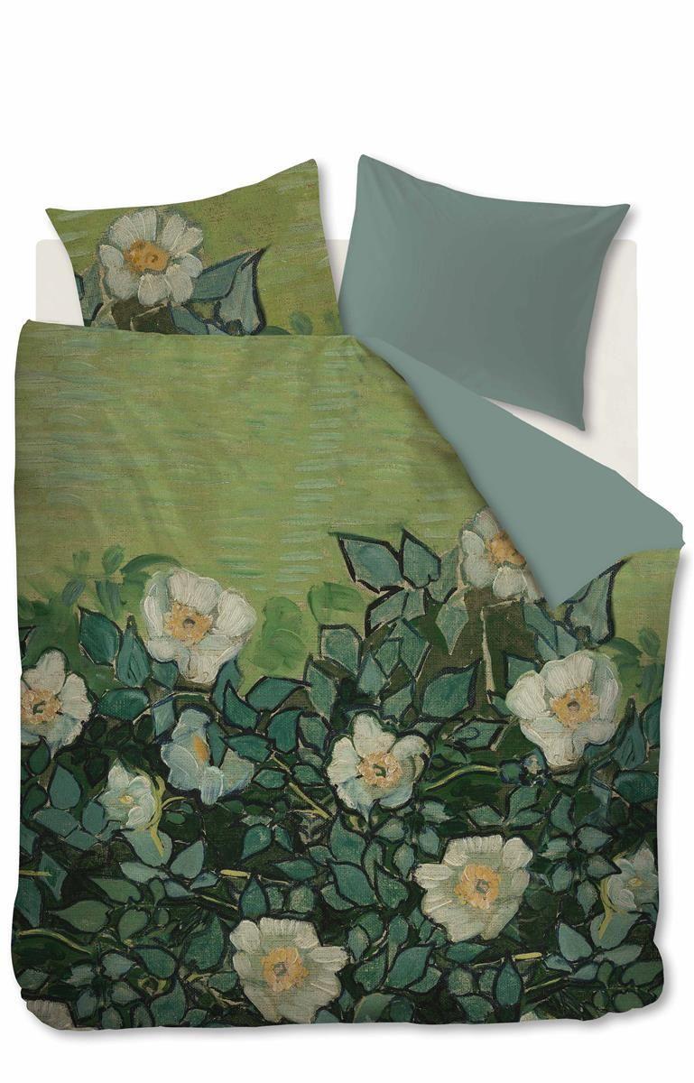 Beddinghouse x Van Gogh Museum Wild Roses - Green