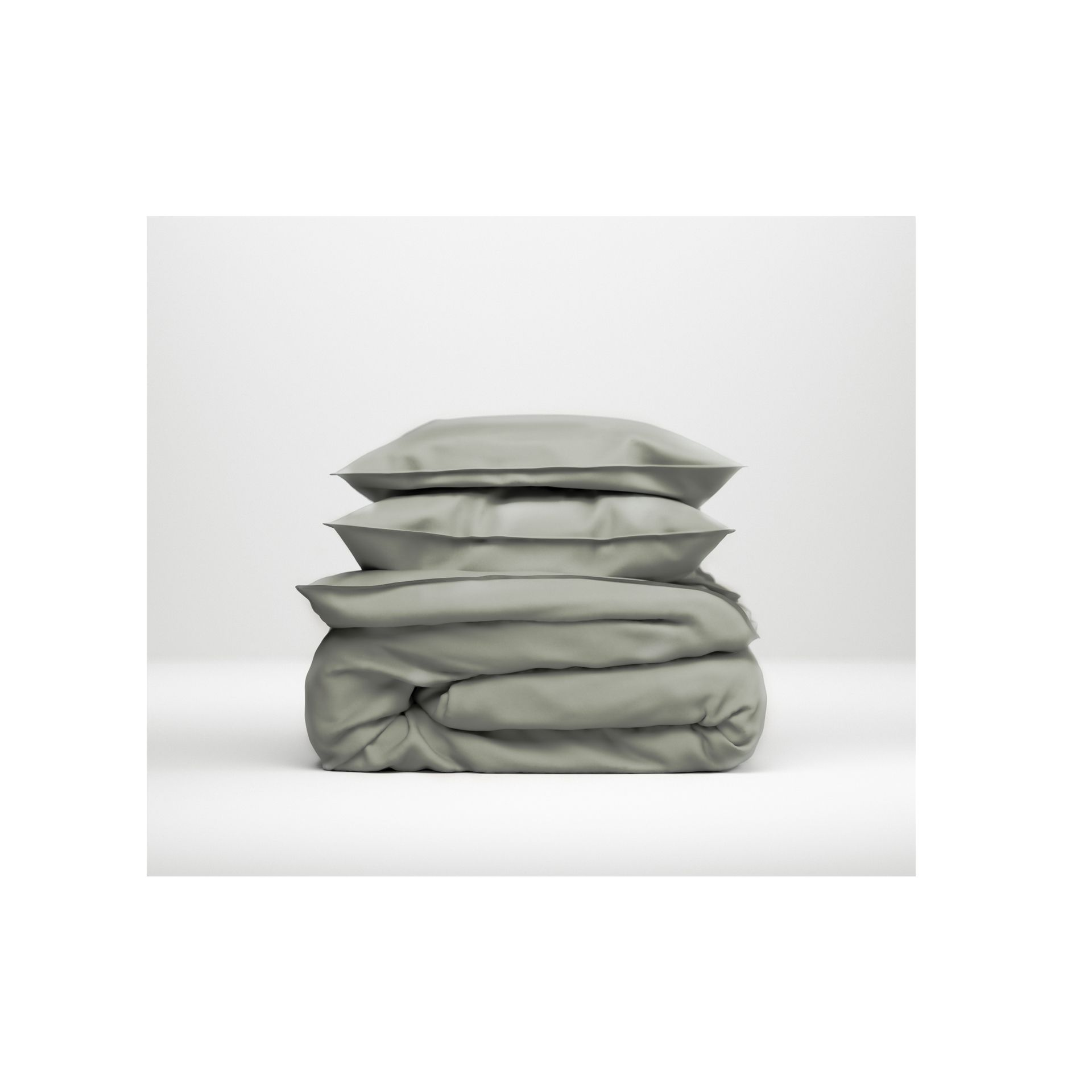 Zo!Home - Satinado iron grey Dekbedovertrek