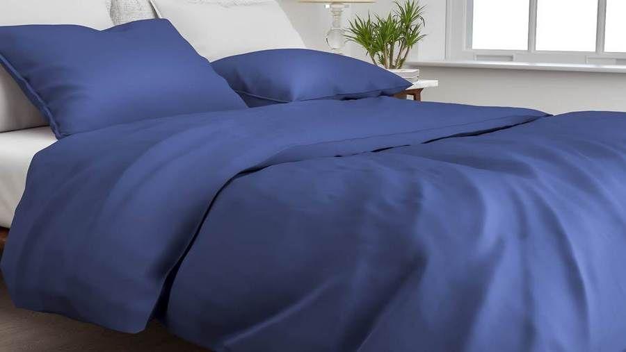 Zo!Home - Satinado navy blue Dekbedovertrek