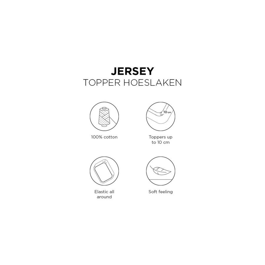 Beddinghouse Jersey Topperhoeslaken