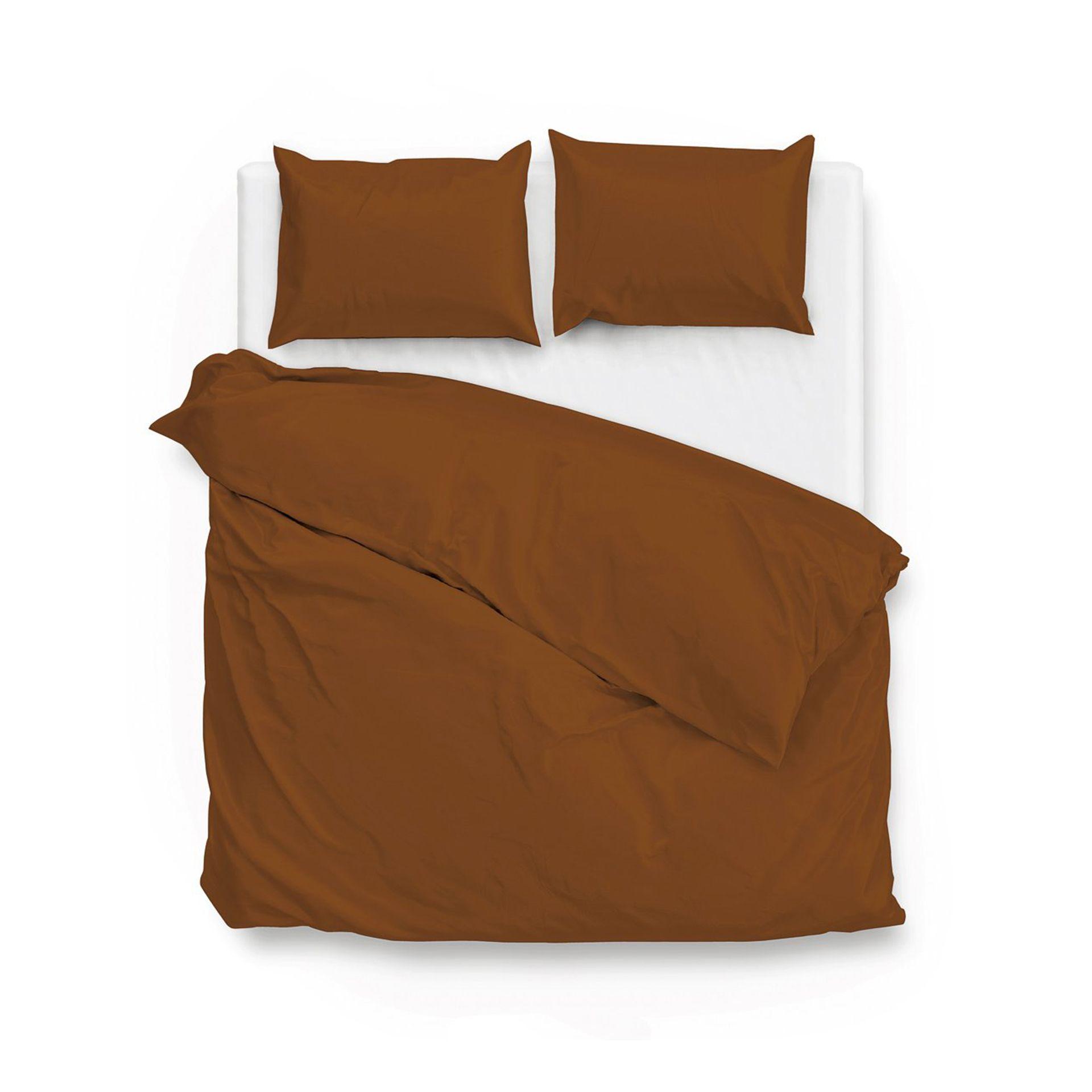 Zo!Home - Satinado copper orange Dekbedovertrek