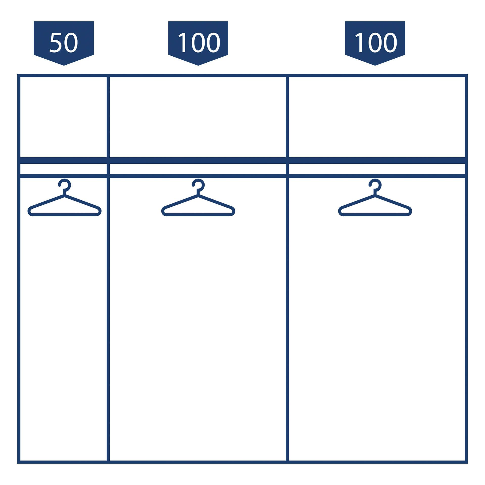 Nolte swift Schuifdeurkast - 2 deurs 250 cm Poolwi