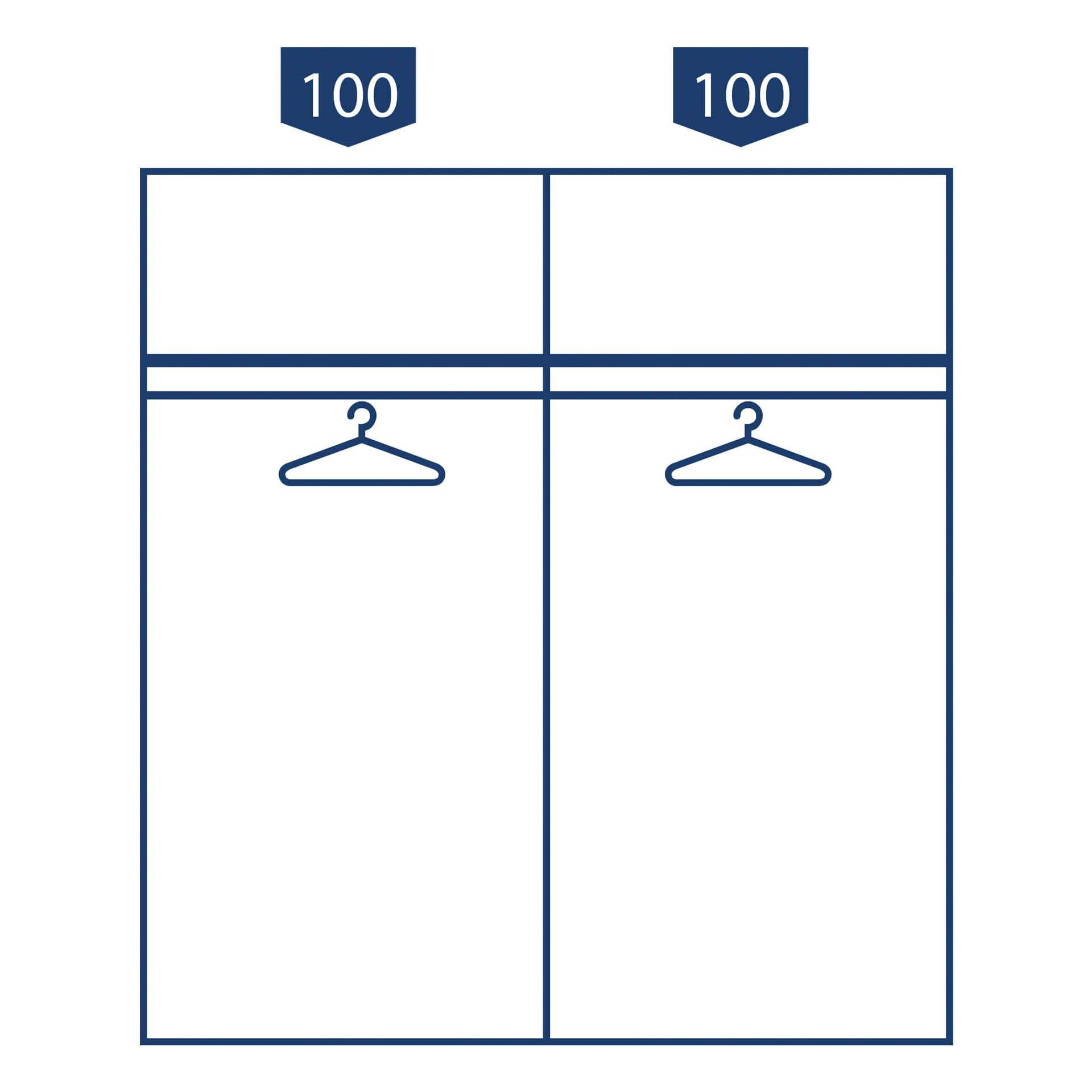 Nolte swift Schuifdeurkast - 2 deurs 200 cm Poolwi