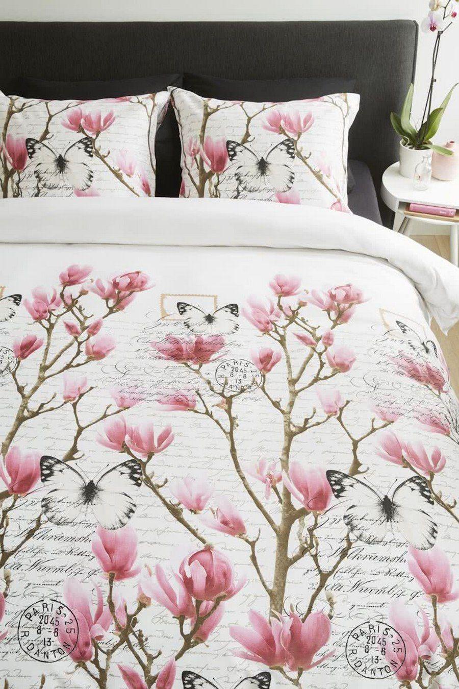 Ambiante - Butterflies 89 soft pink dekbedovertrek
