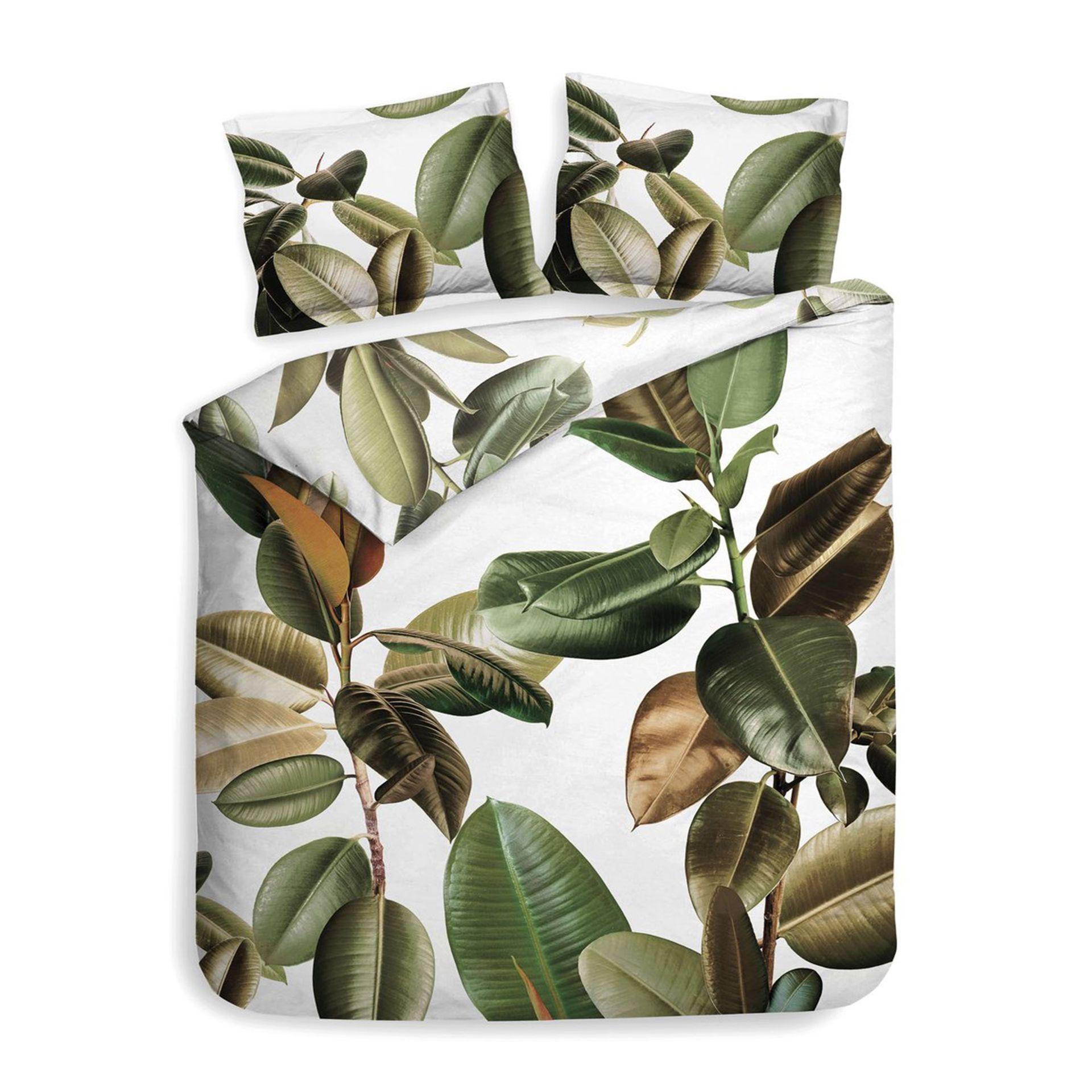 Heckettlane - Bladel leaf green Dekbedovertrek