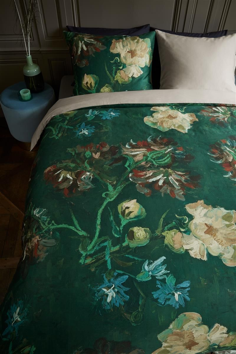 Beddinghouse x Van Gogh Museum Peonies - Green