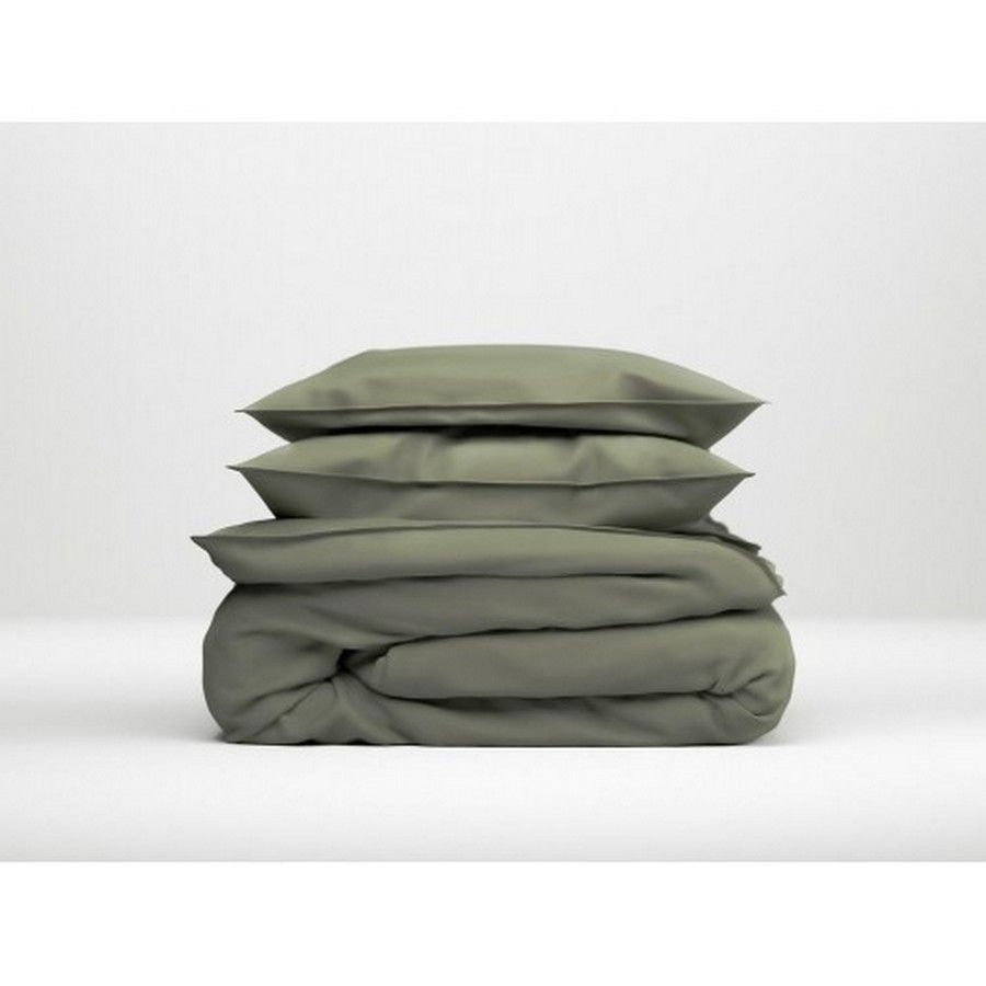 Zo!Home - Satinado army green Dekbedovertrek