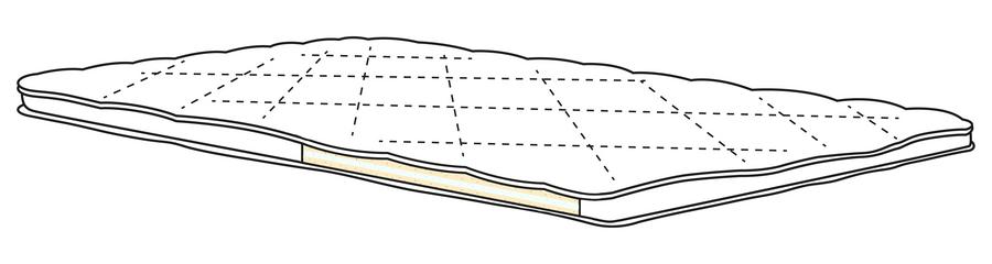 HML Bedding Brio topper 90x210cm - Showroommodel