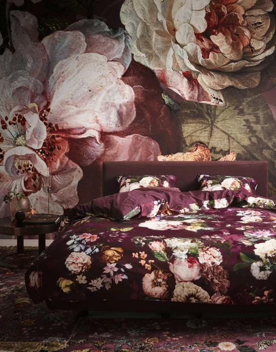 Essenza Fleur - Dekbedovertrek - Burgundy